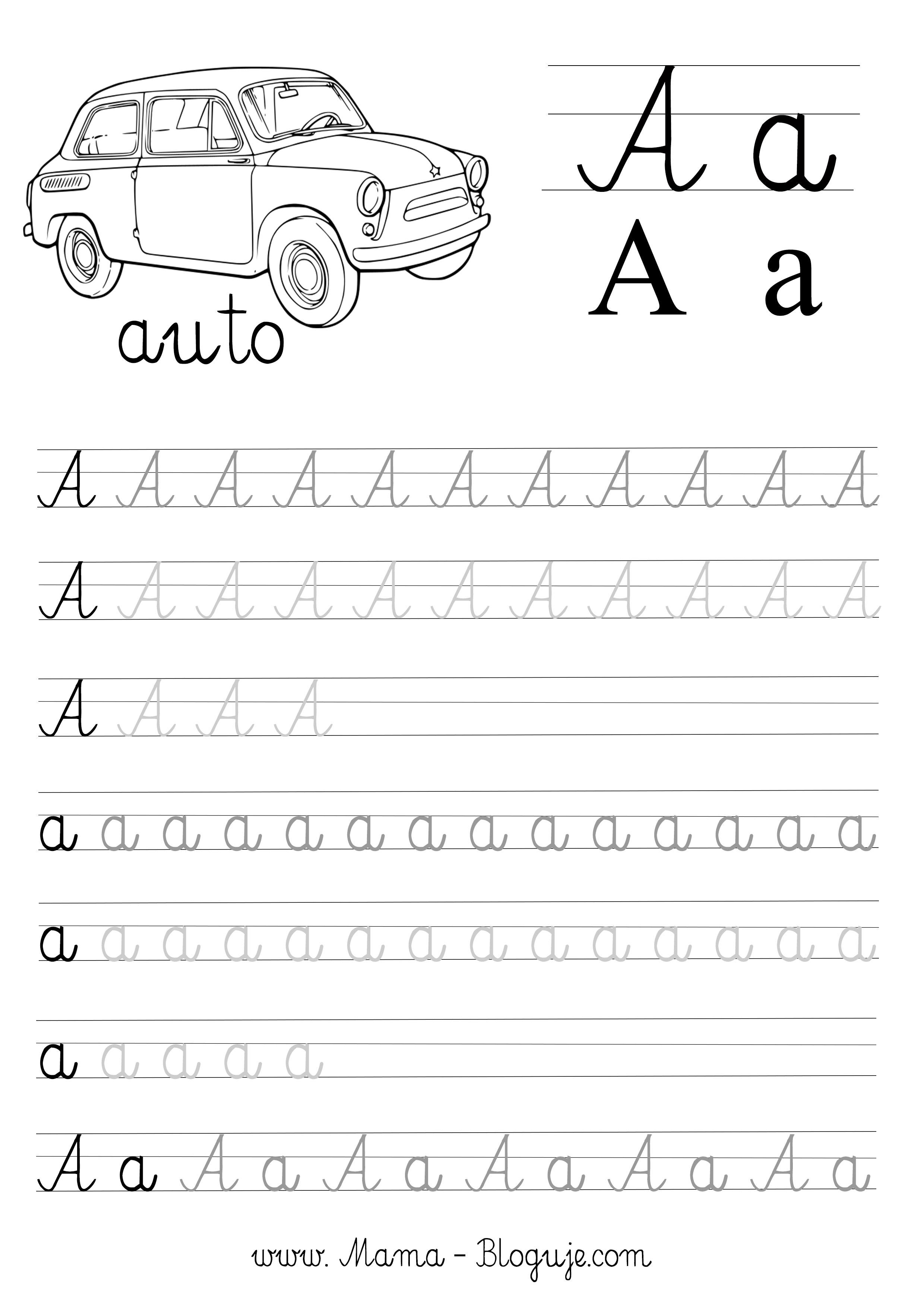 Nauka Pisania Literek Dla Dzieci Darmowe Szablony Do Druku